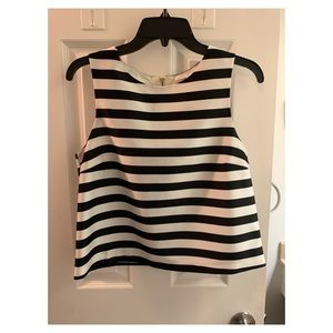 Black and White striped Forever 21 top. Size S.